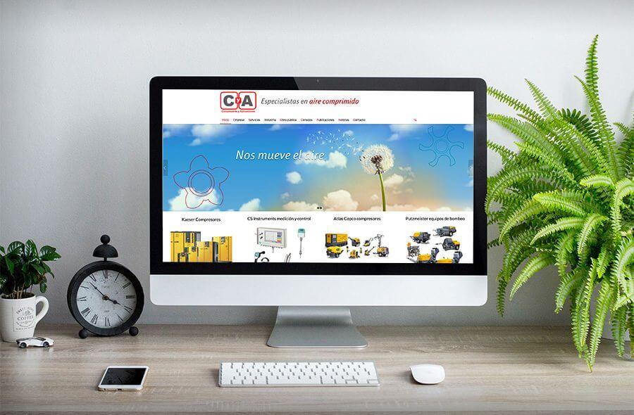 Nueva web CyA compresores