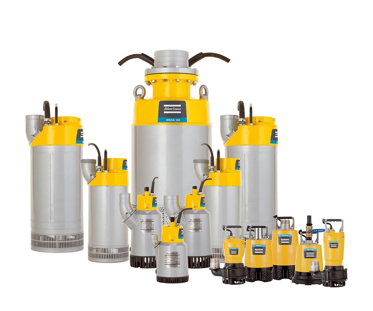 Atlas Copco bombas de achique de agua