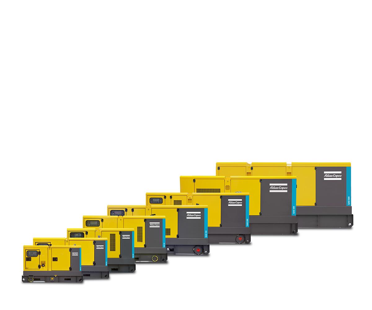Atlas Copco generadores de electricidad